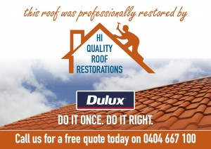 This roof was professionally restored by Hi Quality Roof Restorations